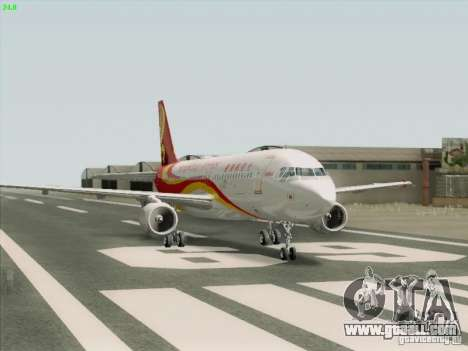 Airbus A320-214 Hong Kong Airlines for GTA San Andreas right view