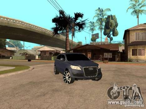Audi Q7 for GTA San Andreas left view