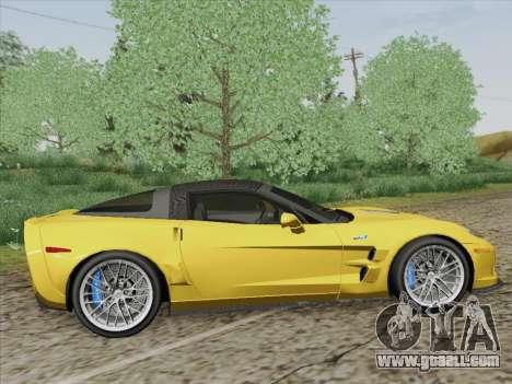 Chevrolet Corvette ZR1 for GTA San Andreas right view