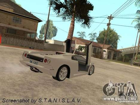 Lamborghini Diablo for GTA San Andreas left view