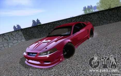 Ford Mustang SVT Cobra 2003 Black wheels for GTA San Andreas