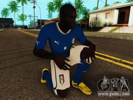Mario Balotelli v4 for GTA San Andreas fifth screenshot