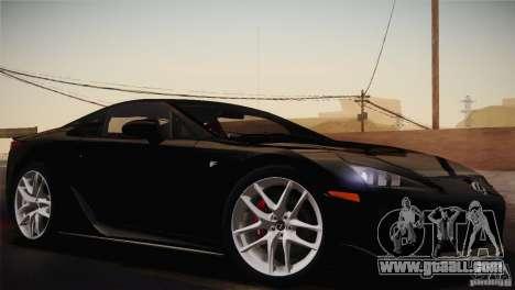 Lexus LFA (US-Spec) 2011 for GTA San Andreas