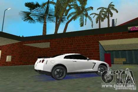 Nissan GT-R Spec V 2010 v1.0 for GTA Vice City back left view