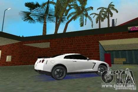 Nissan GT-R Spec V 2010 v1.0 for GTA Vice City back left view