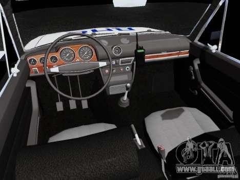 VAZ 2106 Police for GTA San Andreas inner view