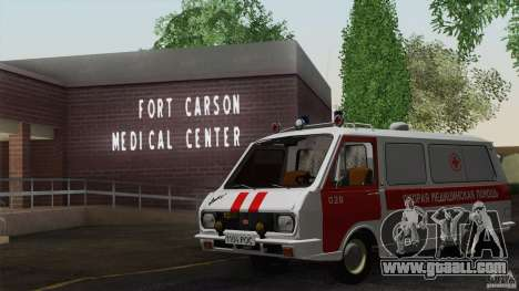 RAF 22031 Latvija ambulance for GTA San Andreas side view