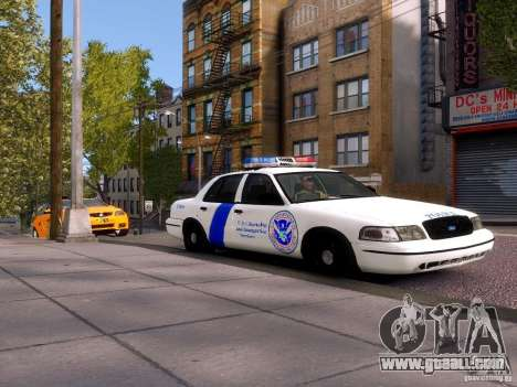 Ford Crown Victoria Homeland Security for GTA 4 back left view