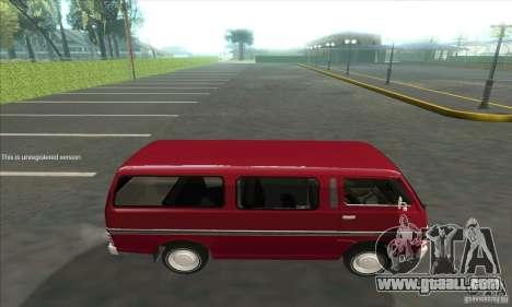 Nissan Caravan E20 for GTA San Andreas left view