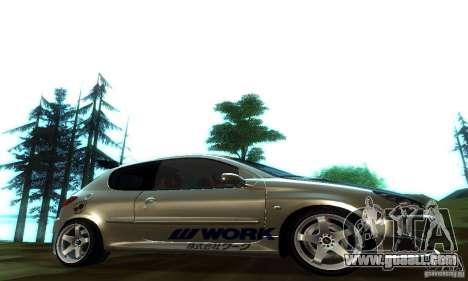 Peugeot 206 Tuning for GTA San Andreas left view
