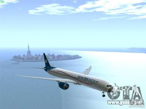 Boeing 787-8 Dreamliner AeroMexico for GTA San Andreas side view