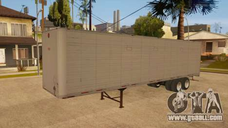 All-metal trailer for GTA San Andreas side view