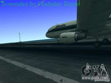 Airbus A320-214 Alitalia v.1.0 for GTA San Andreas back view