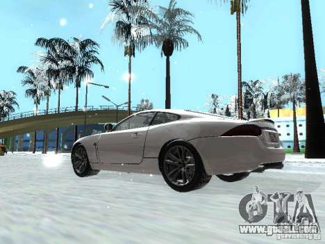 Jaguar XK for GTA San Andreas left view