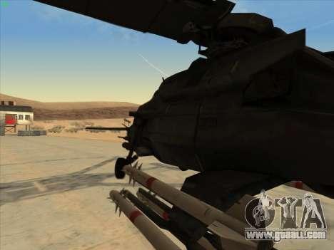 RQ-50 Hammerhead for GTA San Andreas back left view