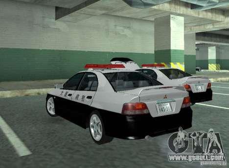 Mitsubishi Galant Police for GTA San Andreas back left view