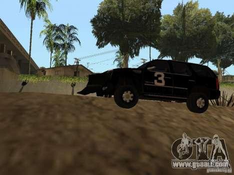 Cadillac Escalade Tallahassee for GTA San Andreas back view