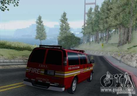 Chevrolet Express Special Operations Command for GTA San Andreas side view