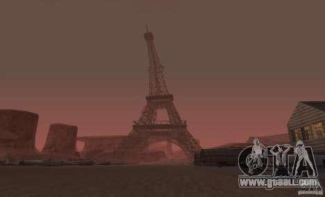 The Eiffel Tower from Call of Duty Modern Warfar for GTA San Andreas second screenshot