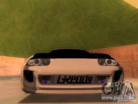 Toyota Supra GTS for GTA San Andreas back view