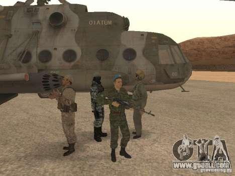 Spetsnaz VDV for GTA San Andreas third screenshot
