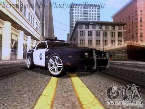 Ford Mustang GT 2011 Police Enforcement for GTA San Andreas left view