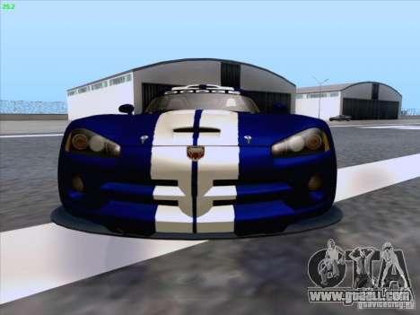 Dodge Viper GTS-R Concept for GTA San Andreas bottom view