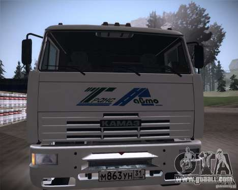KAMAZ 65117 for GTA San Andreas inner view