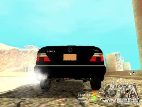 Mercedes-Benz 230E for GTA San Andreas back left view