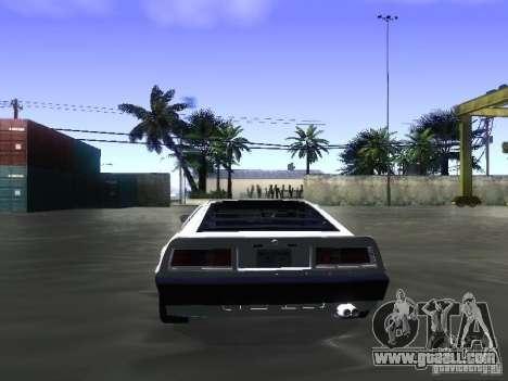 Lotus Esprit Turbo for GTA San Andreas inner view