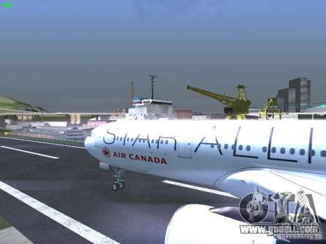 Airbus A330-300 Air Canada for GTA San Andreas inner view