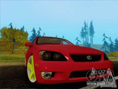 Lexus IS300 Edit for GTA San Andreas left view