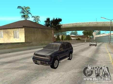 Chevrolet TrailBlazer 2003 for GTA San Andreas inner view