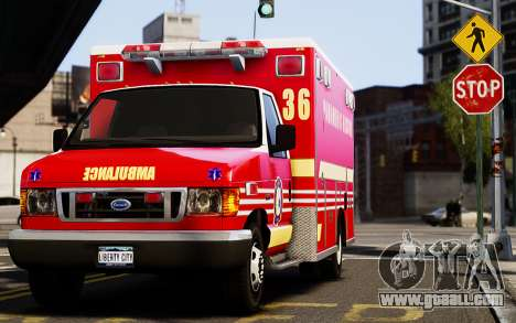 Ford Econoline E350 Ambulance for GTA 4 left view