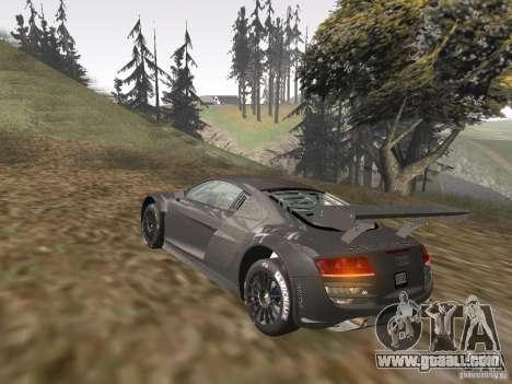 Audi R8 LMS v3.0 for GTA San Andreas inner view