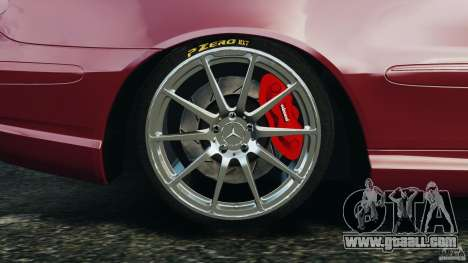 Mercedes-Benz CLK 63 AMG for GTA 4 upper view