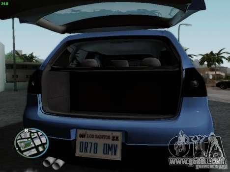 Volkswagen Golf V R32 Black edition for GTA San Andreas inner view