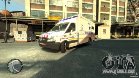 Mercedes-Benz Sprinter Ambulance for GTA 4 left view