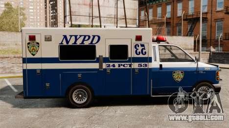 New van police for GTA 4 left view