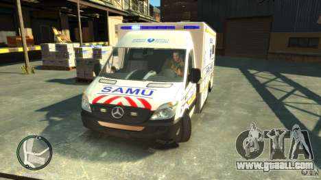 Mercedes-Benz Sprinter Ambulance for GTA 4