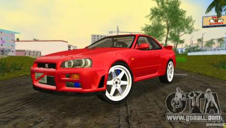 Nissan Skyline GTR R34 for GTA Vice City