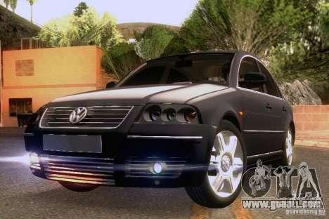 Volkswagen Passat B5+ for GTA San Andreas bottom view