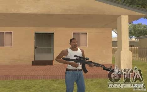 AK 103 for GTA San Andreas forth screenshot