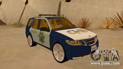 Saab 9-7X Police for GTA San Andreas back view