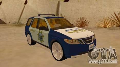 Saab 9-7X Police for GTA San Andreas back view