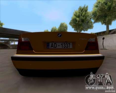 BMW 730i E38 1996 Taxi for GTA San Andreas back view