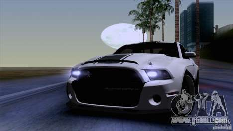 Ford Shelby GT500 Super Snake for GTA San Andreas inner view