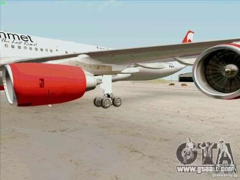 Airbus A-340-600 Plummet for GTA San Andreas inner view