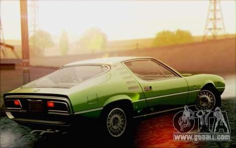 Alfa Romeo Montreal 1970 for GTA San Andreas inner view