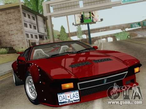 De Tomaso Pantera GT4 for GTA San Andreas engine